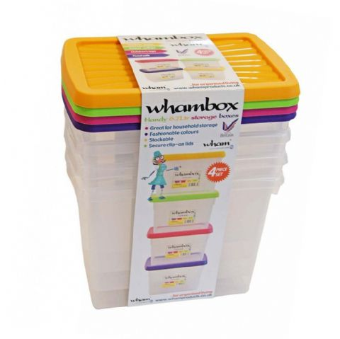 Whambox Handy 6.7L Storage Boxes Set of 4